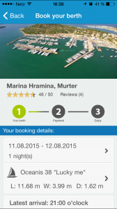 Online berth booking on the app