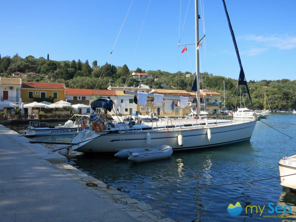 Quay in Lakka, Paxos