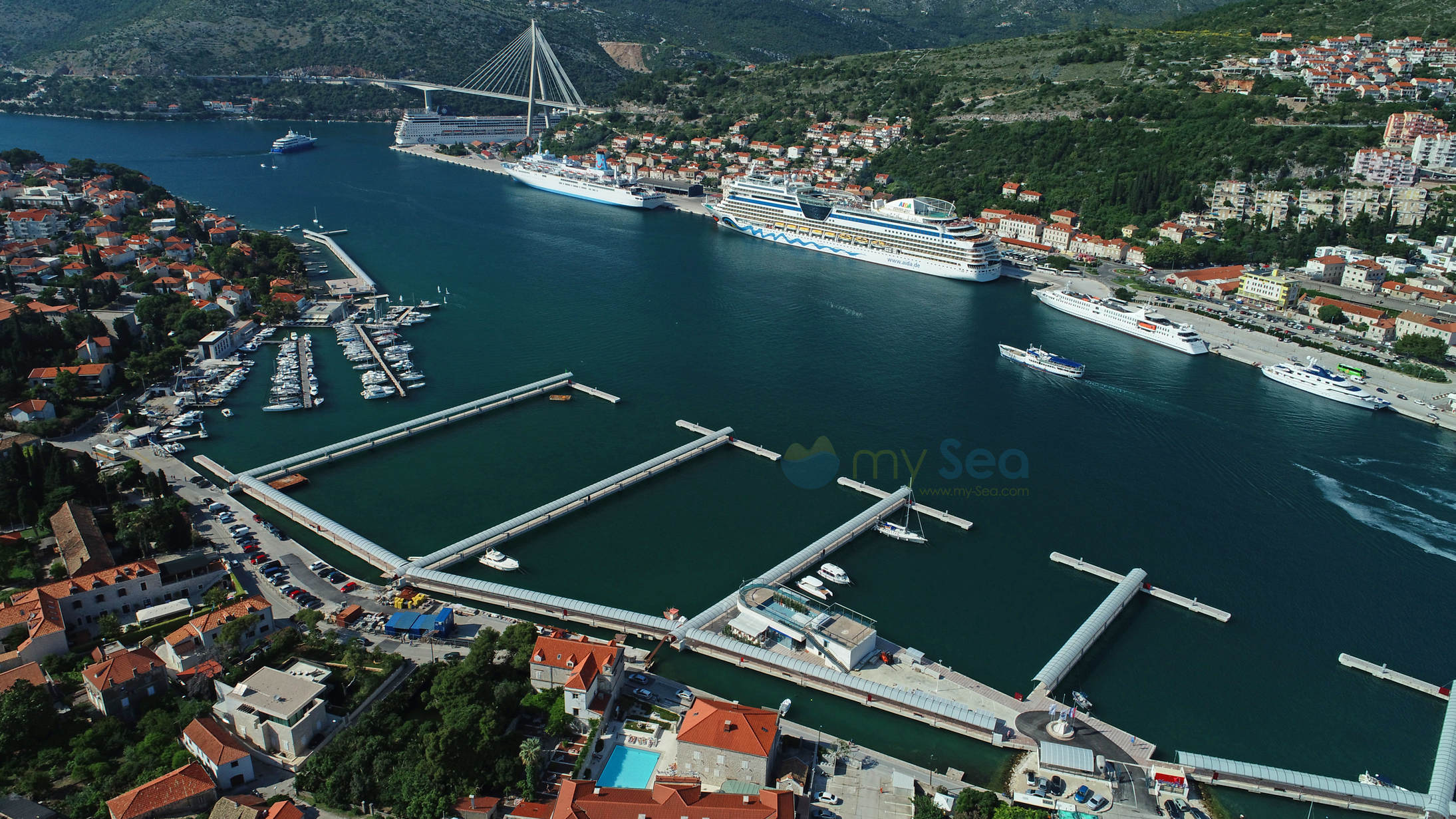 This is the new marina Frapa in Dubrovnik
