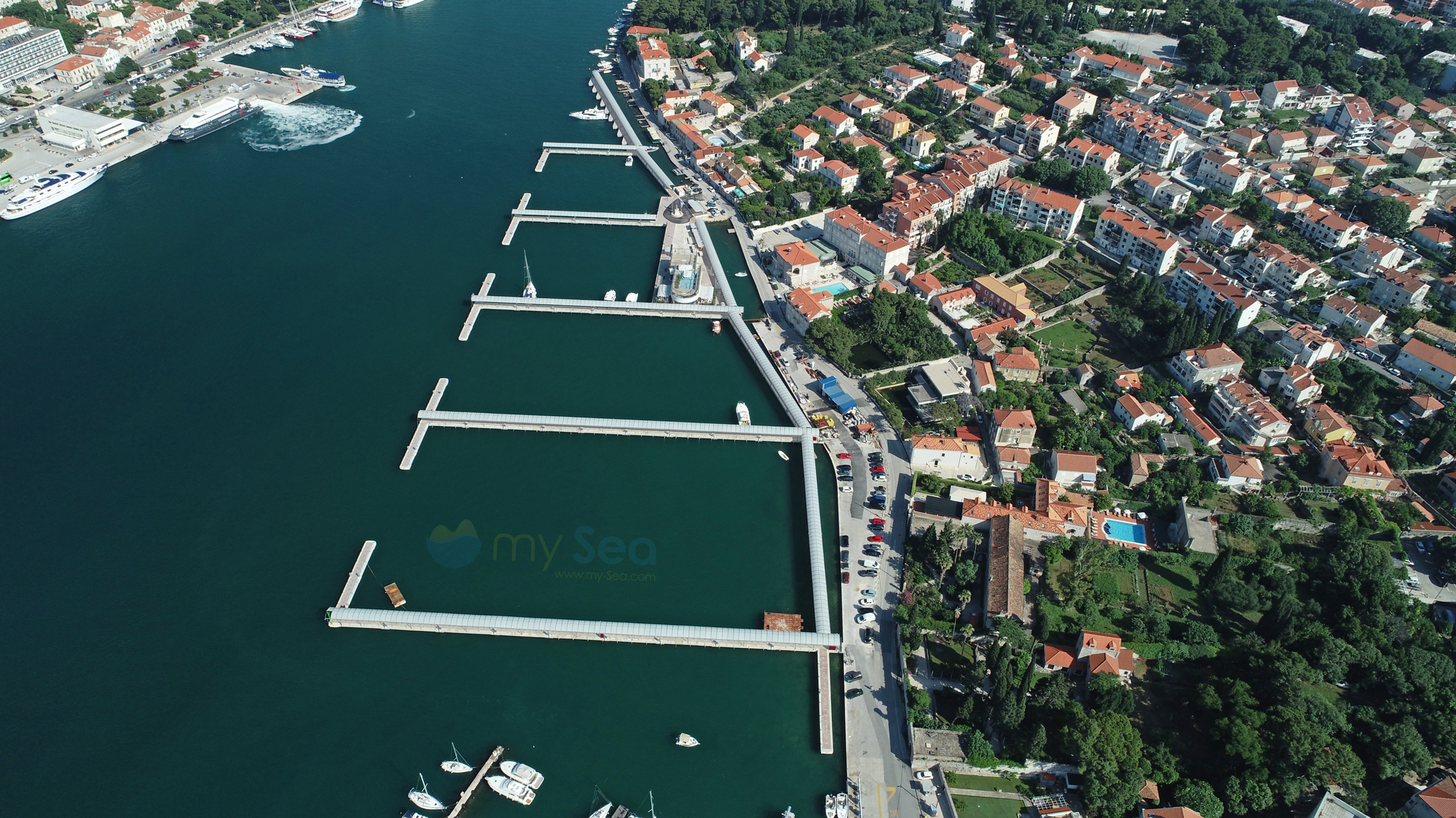 View on the new marina Frapa in Dubrovnik